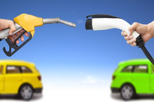 bigstock-electric-car-and-gasoline-car-47540728